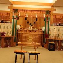 神殿の新郎新婦席