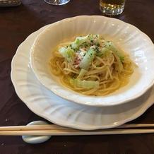 ズワイガニのアーリオオーリオスパゲティ