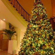 大きなツリーが装飾されていました。
