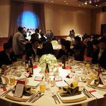 10人卓のテーブルが計3卓借りれます。