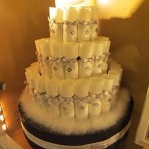 席次表のケーキ