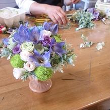 提携のお花屋さんで作成の花束