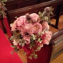 参列席に飾っている花