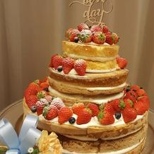 展示会でのケーキ