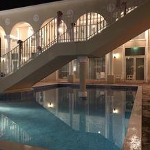 ガーデンにはプールも有ります。