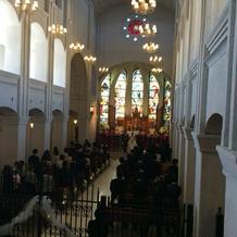 挙式をした大聖堂