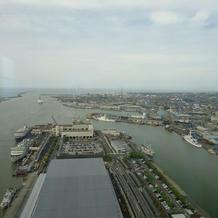 信濃川~日本海が見える