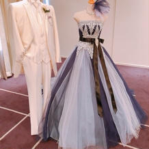 カラードレスの展示がありました。