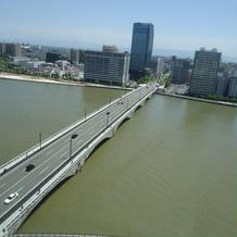 信濃川&万代橋が見える☆