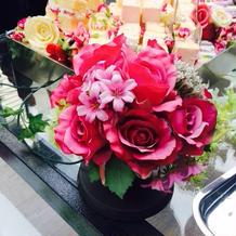 ビュッフェのお花