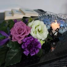 受付の装花