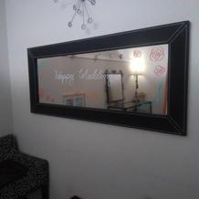新郎新婦控え室の鏡です。