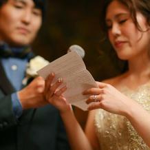 花嫁の手紙。