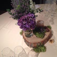 テーブルのお花が素敵でした