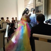 納得のいくドレスに出会えました。