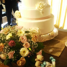 ケーキ入刀のケーキです