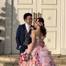 カラードレス全体