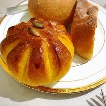 かぼちゃのパン 焼きたてで美味しい