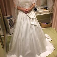 私が着たドレスです。