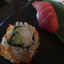 寿司ビュッフェのお寿司