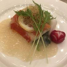 天然金目鯛のヴァプール レモンソース