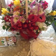 両親にあげる花かごは持ち込み