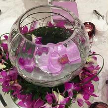 テーブルの花が可愛かったです