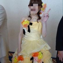 妊娠8ヶ月でも着れるドレスでした