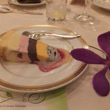 中華のときのケーキ