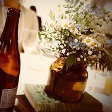 各テーブルのお花