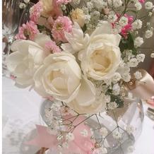 テーブル装花の種類も豊富
