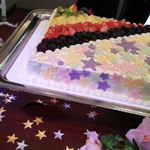スターと大好きなNEWSカラーのケーキ