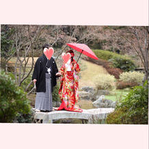 前撮り和装/袴/大宮璃宮/庭園