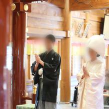 白無垢と紋付袴