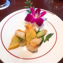 大海老と旬野菜のあっさり炒め