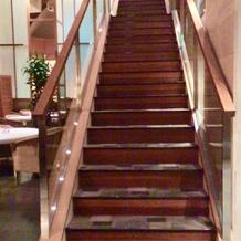 会場内の大階段。フォトスポット。