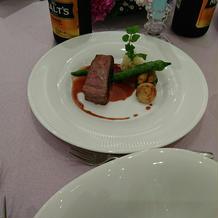 お肉料理で、国産にしました。