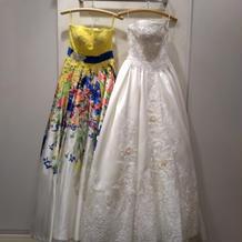 決めたドレス