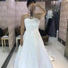 初めての白ドレスは感動したなー