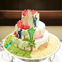 ウェディングケーキ全体図