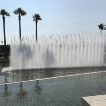 チャペル前の噴水