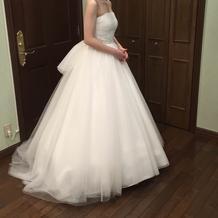 試着したドレス、プリンセスライン