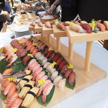 お寿司ブッフェ