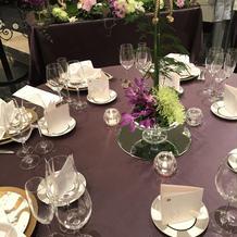 本番のテーブルクロスは白でした。
