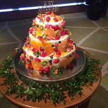 初めてみたケーキでした。かわいかった!