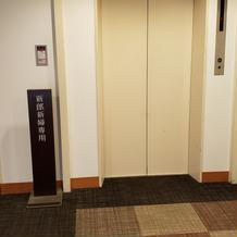 新郎新婦専用エレベーター