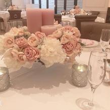 ゲスト席のテーブル上の雰囲気