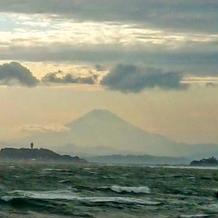 風強い日だったけど、富士山見えた