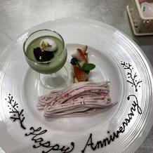 1周年記念のデザート