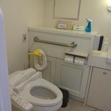 オムツ替え場所ありのトイレ。